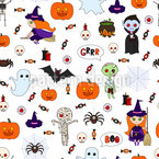 Typical Halloween Repeat Pattern