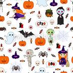 Typisch Halloween Nahtloses Vektormuster