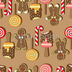 Christmas Sweets Seamless Vector Pattern Design