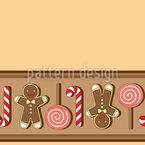 Weihnachtsgebäck Streifen Musterdesign