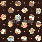 Cupcakes in the universe Seamless Vector Pattern Design