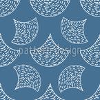 Gezeichnete Fisch Schuppen Vektor Design