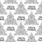 Eine Frohe Weihnachtszeit Nahtloses Vektormuster