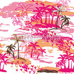 Tropical Paradise Seamless Vector Pattern Design