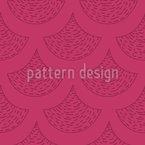Doodle Schuppen Muster Design