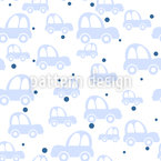Cute Cars Seamless Vector Pattern Design