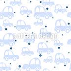 Niedliche Autos Nahtloses Vektormuster