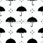 Silhoeuttes Guarda-Chuva Design de padrão vetorial sem costura