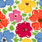 Bright Flowers Vector Ornament