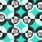 Ausgefranste Kreise  Musterdesign