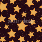 Christmas Star Cookies Seamless Vector Pattern Design
