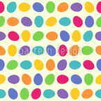 Rolling Eggs Seamless Vector Pattern Design