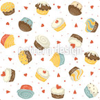 Kawaii Cupcakes Repeat Pattern