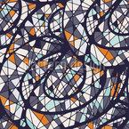 Grafische Mosaik Kreise Nahtloses Vektormuster