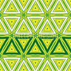Triângulos Frescos Design de padrão vetorial sem costura