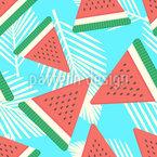 Frische Wassermelone Nahtloses Vektormuster