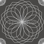 Spirella Flor Seamless Vector Pattern Design