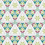 Dreieckige Schönheit Nahtloses Vektor Muster