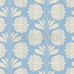 Vintage Flower Silhouettes Pattern Design