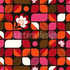 Retro Blumen Spiel Nahtloses Vektormuster