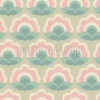 Soixties Floraison Motif Vectoriel Sans Couture