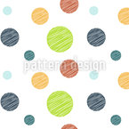 Scribbled Circles Vector Ornament