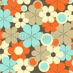 Retro-Pop Blumen Nahtloses Vektor Muster
