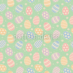 Rolling Easter Eggs Seamless Vector Pattern