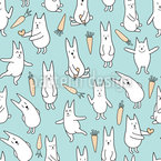 Happy Bunnies Repeat Pattern