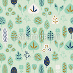 Modern Natural Leaves Pattern Design