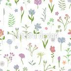 Frühlingsblumen Zeichnungen Nahtloses Vektormuster
