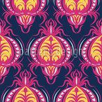 華やかなファナッツィの花 シームレスなベクトルパターン設計