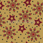 Winter Star Gazing Seamless Vector Pattern Design