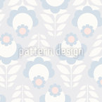 Vintage Fantasy Flowers Repeat Pattern