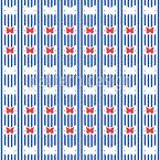 Streifen-Schmetterlinge Nahtloses Vektormuster