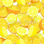 Zitrusfrucht Über Zitrusfrucht Nahtloses Vektormuster