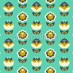 Vintage Fantasie-Blüte Vektor Muster
