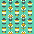 Vintage Fantasy Blossom Vector Pattern