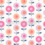 Stamped Flowers Vector Design