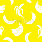 Banana Sobre Banana Design de padrão vetorial sem costura