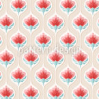 Blossom In Drops Seamless Vector Pattern