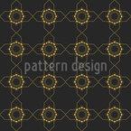 配置された四角形と太陽 シームレスなベクトルパターン設計