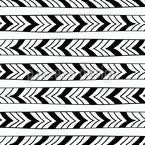 Arrow Ribbons Seamless Vector Pattern Design