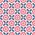 Arranged Blossoms and Leaves Pattern Design