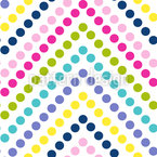 Zigzag Dot Seamless Vector Pattern Design