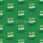 Eat Drink Love Schriftzüge Nahtloses Muster