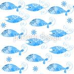 Pesci fantastici disegni vettoriali senza cuciture