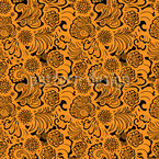 Oriental Florals Repeating Pattern