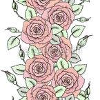 Bordures Bonito De Rosas Design de padrão vetorial sem costura