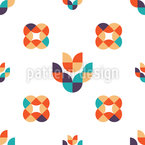 Simple Folk Flowers Design Pattern
